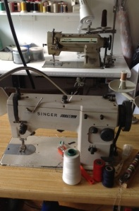 Heavy duty  straight stitch and ziz zag machines.